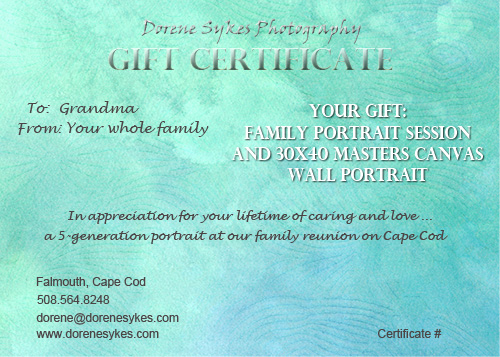 Gift Certificates Samples. Pet Portraits By Cherie Vergos ...